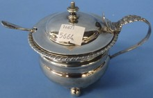 *ENGLISH STERLING SILVER CONDIMENT BOWL
