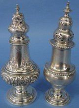 *2 ENGLISH STERLING SILVER SHAKERS