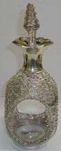 STERLING SILVER CLAD DECANTER