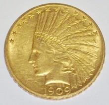 *1909 $10 GOLD PIECE