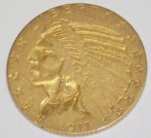 *1911 $5 GOLD PIECE