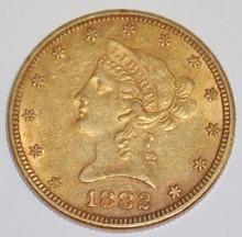 *1882 $10 GOLD PIECE