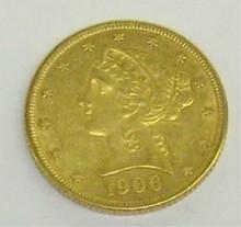*1906 $5 GOLD PIECE