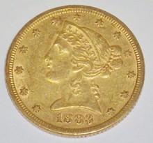 *1883 $5 GOLD PIECE