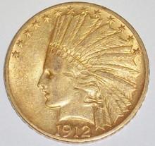 *1912 $10 GOLD PIECE