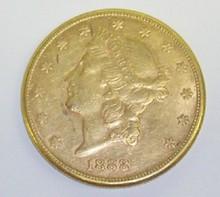 *1888 $20 GOLD PIECE