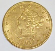 *1907 $10 GOLD PIECE