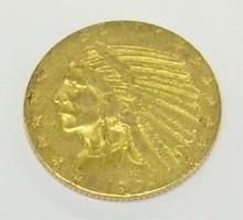 *1909 $5 GOLD PIECE
