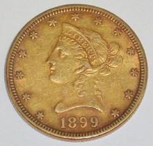 *1899 $10 GOLD PIECE