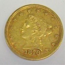 *1870 $2 1/2 GOLD PIECE