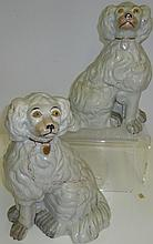 *PAIR OF STAFFORDSHIRE POTTERY FIGURES