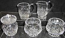*5 PIECES OF WATERFORD CRYSTAL