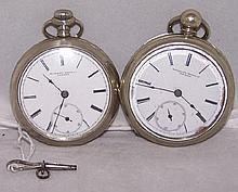 *2 ROCKFORD WATCH CO. POCKET WATCHES
