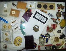 *GROUP OF MILITARY RIBBONS AND PINS