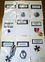 *GROUP OF MILITARY RIBBONS AND MEDALS