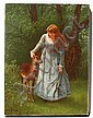 S.S. CARR PAINTING GIRL WITH DEER