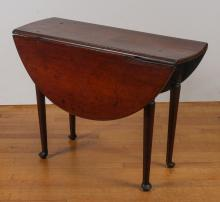 QUEEN ANNE MAHOGANY DROP LEAF TABLE