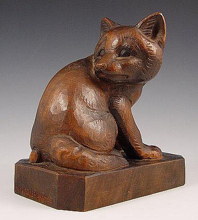 HUGGLER-WYSS, Hans, (Swiss, 1877-1947): Wood