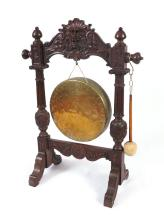 CARVED ASIAN FLOOR GONG