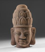 SOUTHEAST ASIAN TERRACOTTA ARCHITECTURAL FRAGMENT