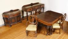 ROCKFORD REPUBLIC INLAID DINING SET