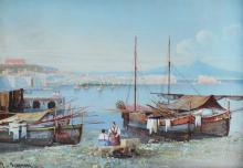 GIANNI BAY OF NAPLES PAINTING