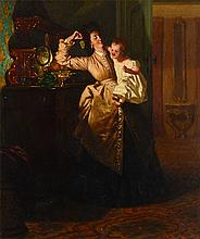 PETER SEBES MOTHER & CHILD INTERIOR PAINTING