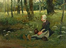 VAN ACKER DUTCH GIRL PAINTING