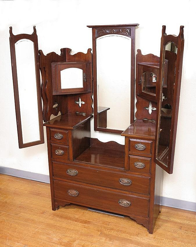 EARLY 20TH CENTURY GULL WING DRESSER