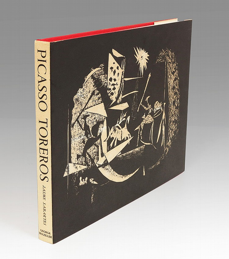 PABLO PICASSO TOREROS BOOK WITH 4 LITHOGRAPHS 1961