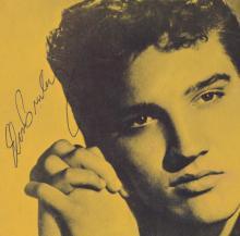 RARE 1956 ELVIS SIGNED TOUR PROGRAM