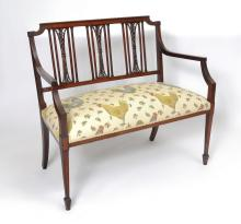 19th CHIPPENDALE STYLE BENCH SEAT