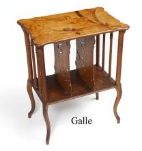 EMILE GALLE MARQUETRY INLAY MUSIC STAND