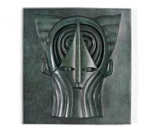 MIHAIL CHEMIAKIN PATINATED BRONZE RELIEF PLAQUE