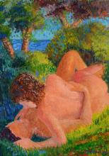 SERGE MENDJISKY PAINTING OF LOVERS