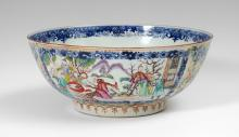 CHINESE EXPORT PORCELAIN BOWL LATE 18TH C.
