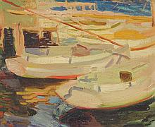 VACLAV VYTLACIL DOCKSIDE PAINTING