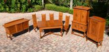 KRUG 9 PIECE OAK DINING ROOM SET
