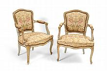 PAIR FRENCH FAUTEIL CHAIRS