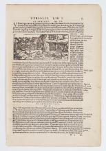 16TH CENTURY LEAF FROM MUNSTER'S COSMOGRAPHIA