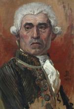 JEAN PAUL LAURENS FINE PORTRAIT OF FRENCH ARISTOCR