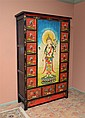 PAINTED DECORATED ASIAN MULTI DRAWER CUPBOARD