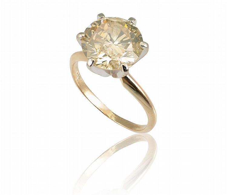 27: 3.30 CT DIAMOND SOLITAIRE RING SZ 6