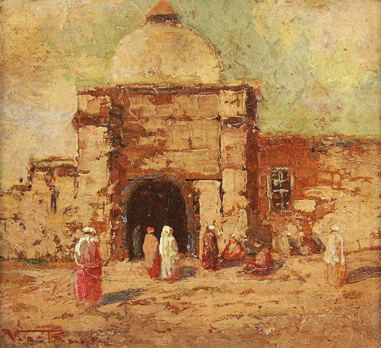 30A: VICTOR RUYTER ORIENTALIST PAINTING