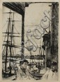 109: WHISTLER ROTHERHITHE ETCHING 1816