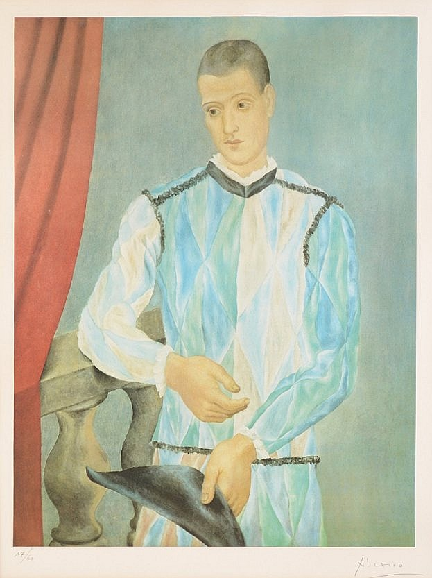 38: ''ARLEQUIN'' LITHOGRAPH AFTER PICASSO