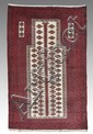 MODERN BELOUCHI PRAYER HAND KNOTTED WOOL RUG 3'x5'