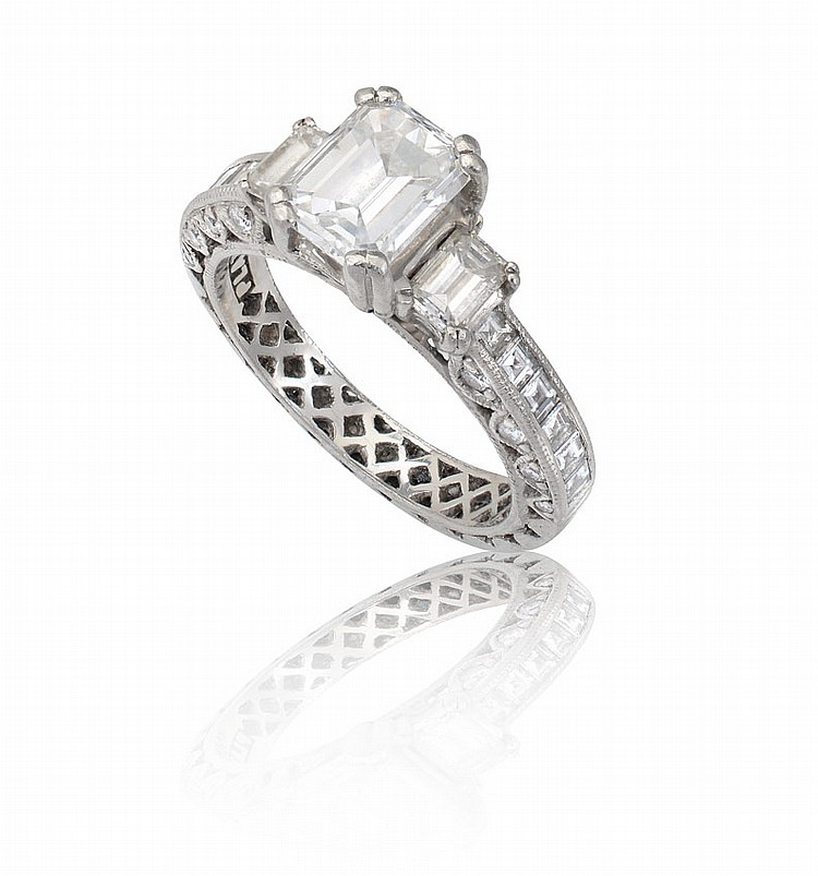 TACORI PLATINUM 2.91 CTW DIAMOND RING GIA CERT