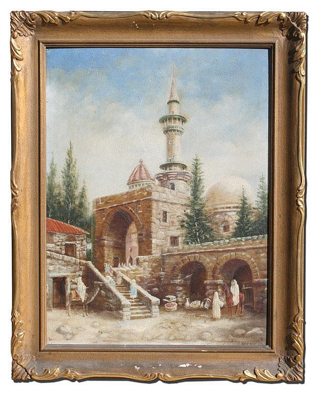 J HAROLD BROWN ORIENTALIST PAINTING