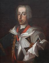 EARLY PORTRAIT PAINTING PRINCE EUGENE OF SAVOY